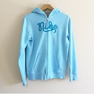Nike Retro Spellout Blue Hoodie